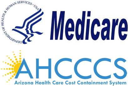 Arizona Medicare and AHCCCS Logos